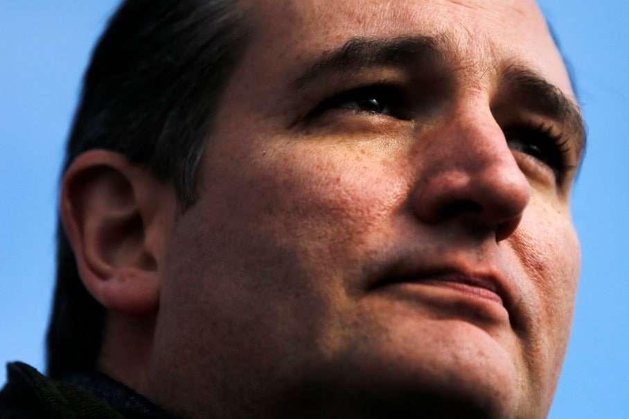 Republican presidential candidate Sen. Ted Cruz, R-Texas, speaks Tuesday, Jan. 12, 2016, during a campaign stop at Granite State Indoor Range in Hudson, N.H. (AP Photo/Matt Rourke)