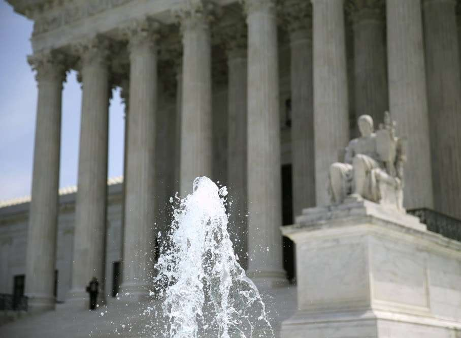The U.S. Supreme Court is seen in Washington June 8, 2015. The Court on Monday struck down a law that would allow American citizens born in Jerusalem to have Israel listed as their birthplace on passports. REUTERS/Gary Cameron