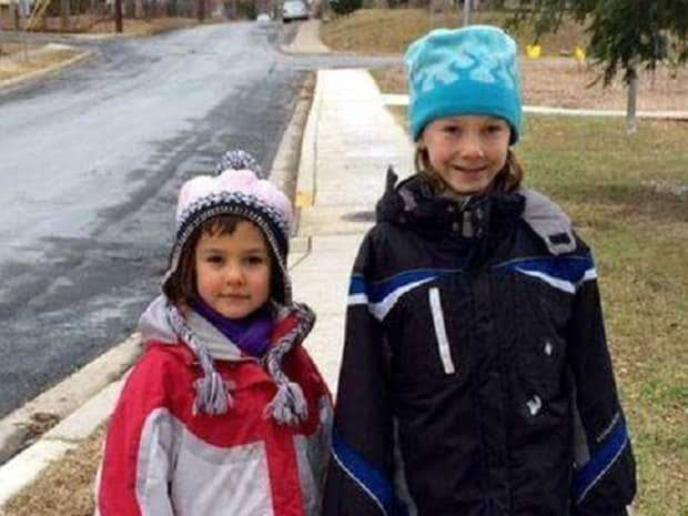 The Meitiv family got into serious trouble with Maryland authorities last year for letting their 10 year old son Rafi (right) and 6 year old daughter Dvora (left) walk home from the park by themselves.