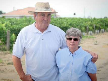 Marvin and Laura Horne, fined for the federal crime of selling their own raisins.